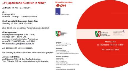 """""""11 japanische Künstler in NRW"""